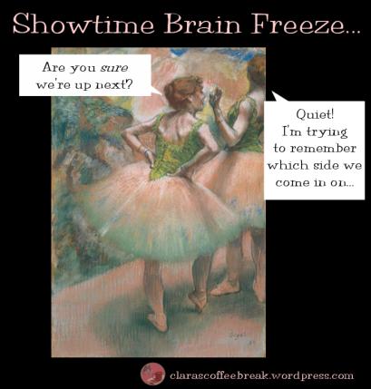 Showtime Brain Freeze Ballet Degas Clara's Coffee Break