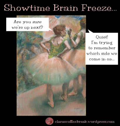 Showtime Brain Freeze Ballet Degas Clara's Coffee Break