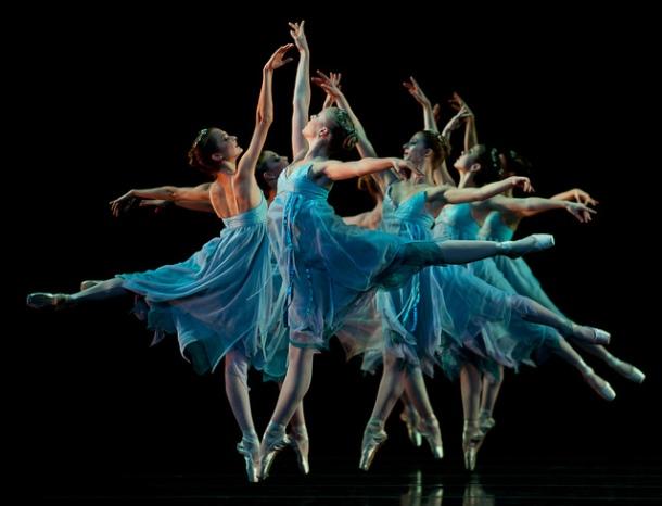 Dancers in Blue Photo