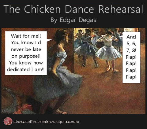 Chicken Dance Rehearsal Edgar Degas Clara's Coffee Break 19