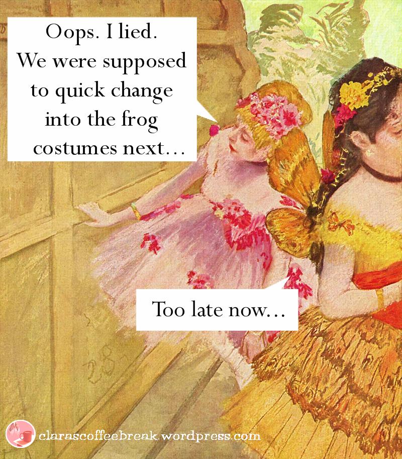 Quick Change Frog Costumes Clara's Coffee Break