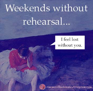 Weekends Without Rehearsal Clara's Coffee Break 3
